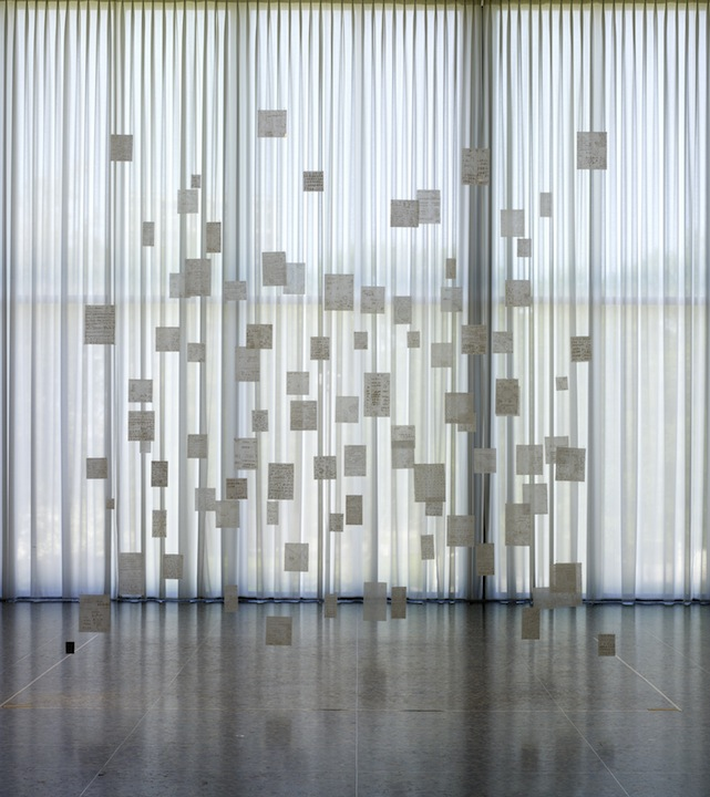 Mira Schendel, Variants 1977, Oil on rice paper and acylic sheets